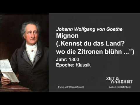 Иоганн Гете Миньона (на немецком) Kennst du das Land?...