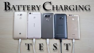 Battery Charging Test Comparison Review! (while powered on) Mate 8/Xplay 5 Elite/G5/HTC 10/P9