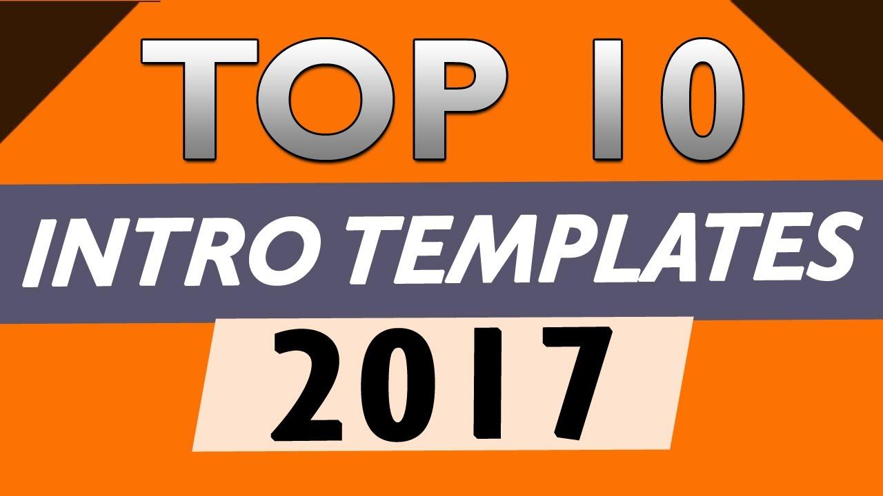 free intro templates - top 10 free intro templates 2017 after effects cs6 cc no