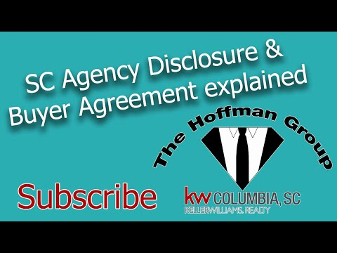 SC Agency  Disclosure And  SC Buyer Agreement