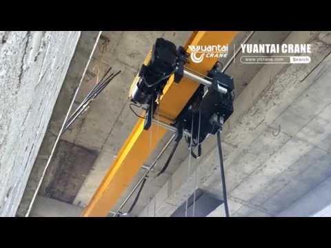 FEM standard HD type single girder overhead bridge crane running video