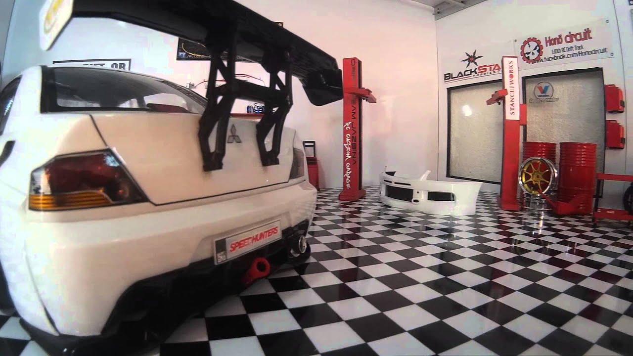 Mitsubishi lancer evo9 by rc custom garage youtube for Garage gdn auto