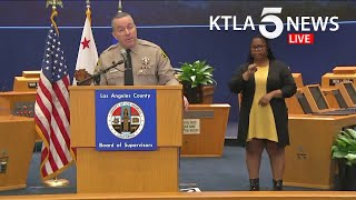 Coronavirus: L.A. County officials provide update on COVID-19 cases, response