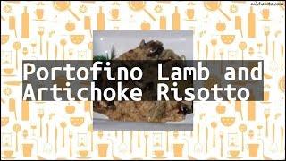 Recipe Portofino Lamb and Artichoke Risotto