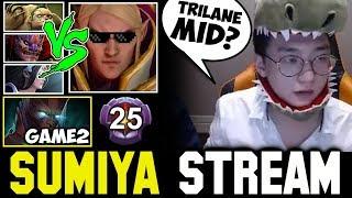 WTF Trilane MID ft Master Tier Terrorblade Hard Game | Sumiya Invoker Stream Moment #485
