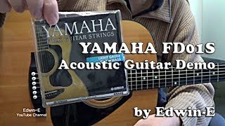 Yamaha FD01S Acoustic Guitar Demo / Review with Yamaha FG12 Strings