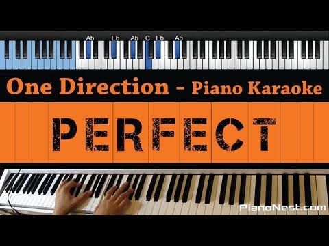 One Direction - Perfect - LOWER Key (Piano Karaoke / Sing Along)