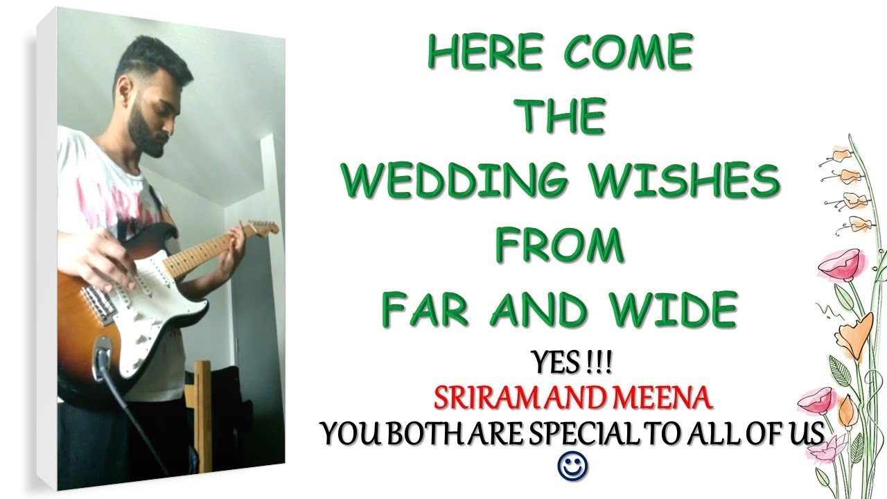 Wedding Wishes For Sriram Meena Marriage