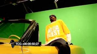 SNOOP DOGG IN HIS LAKERS LOWRIDER Wearing SERIOUS PIMP Sunglasses!