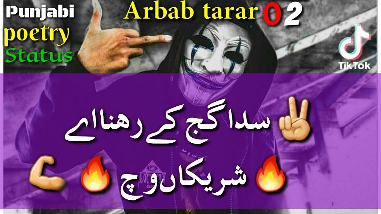 Download Arbab tarar 02 Tik tok Punjabi poetry||Badmashi shayari WhatsApp status||boys Attitude shayari urdu