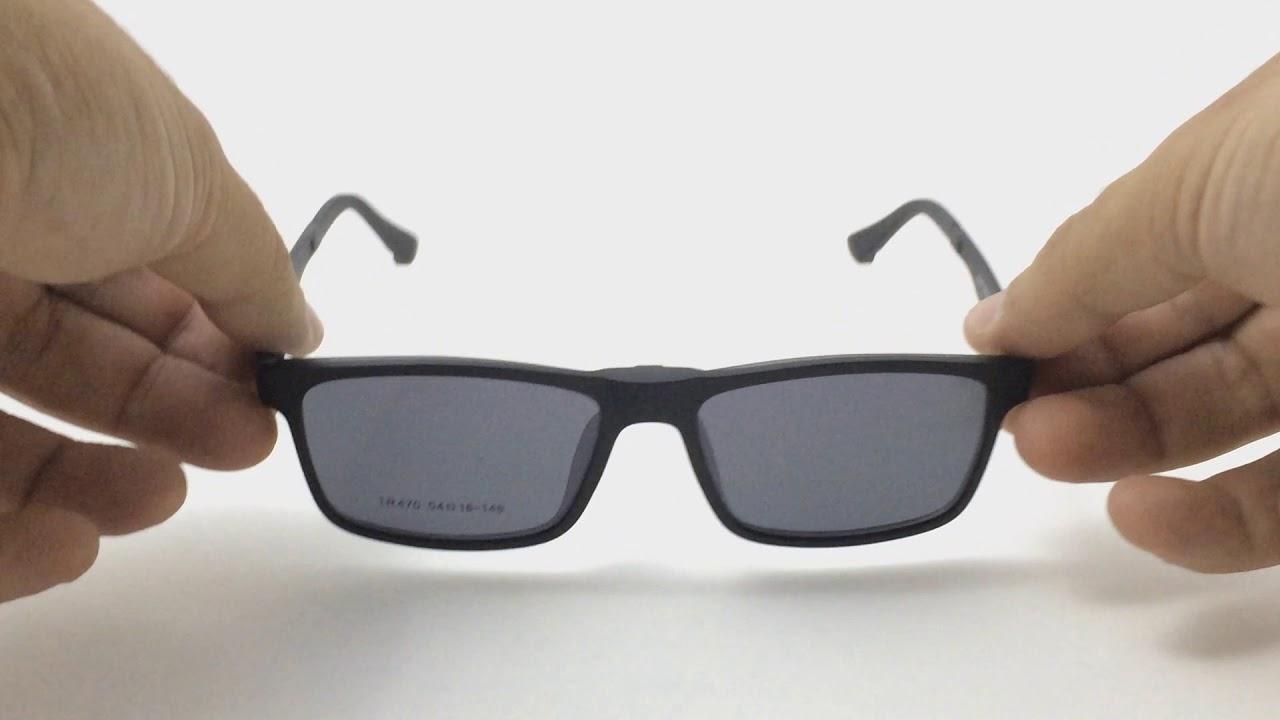 Armação P  Grau e Óculos de Sol Clip On 2 Em 1 Polarizado Solar ... 5d4f64054d