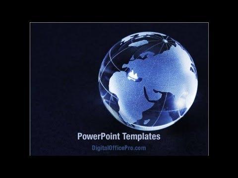 Blue World Globe Powerpoint Template Backgrounds Digitalofficepro