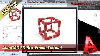 Autocad Design 3d Box Frame Basic Modeling Tutorial For Beginner