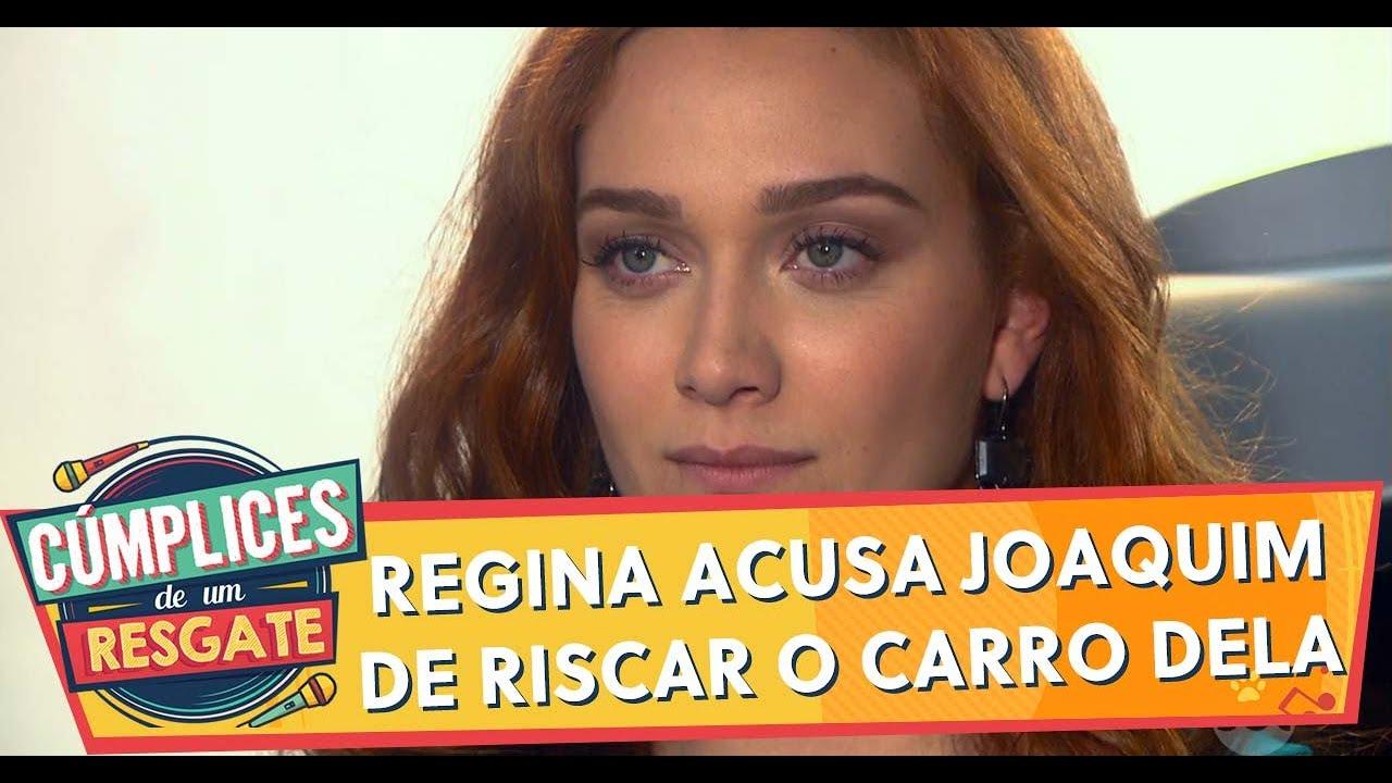 Regina acusa Joaquim de riscar o carro dela   Cúmplices de Um Resgate (19/02/20)