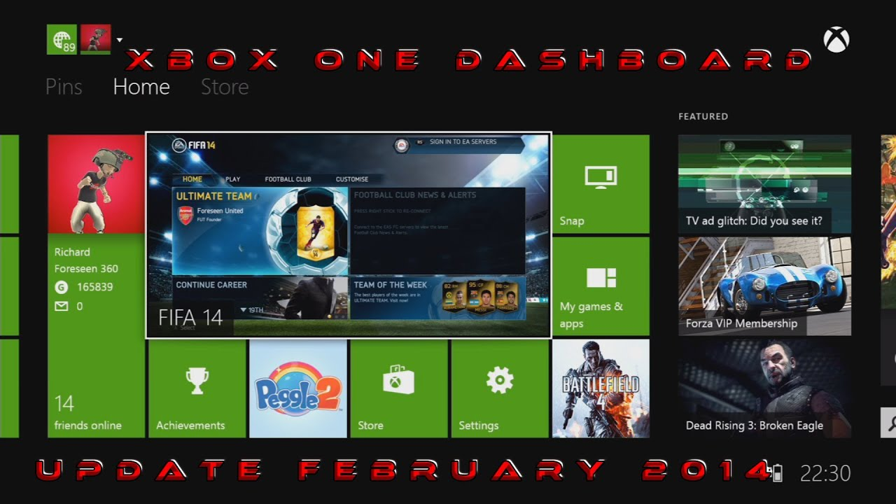 Xbox One Dashboard Update February 2014 And How To Get