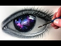 Painting A GALAXY EYE - Time Lapse