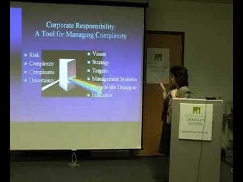 Emerging Trends in Corporate Responsibility. Marlboro Graduate School, Vermont