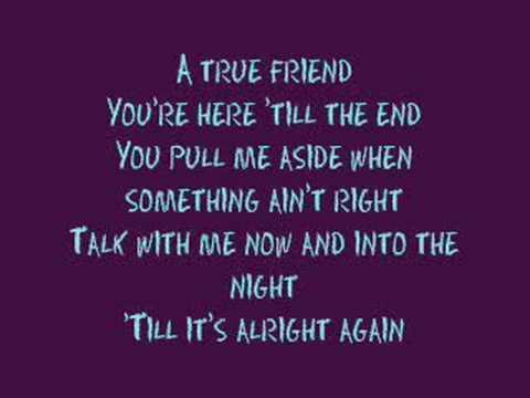 true friends lyrics