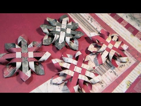 3d Paper Snowflake Ornament Youtube