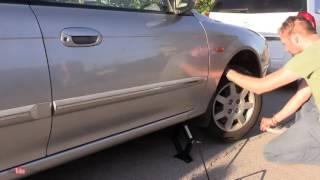 видео Как завести машину с домкрата и веревки