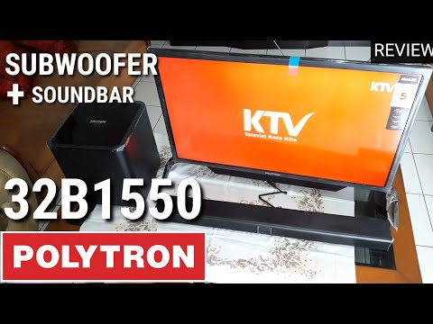 REVIEW POLYTRON 32B1550 Soundbar Subwoofer Indonesia HD