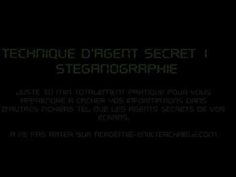 Intro Technique d'agent secret 1: Stéganographie