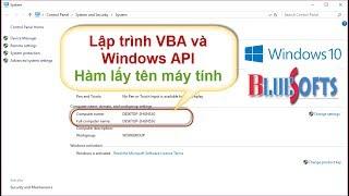 Lập trình VBA lấy tên máy tính với hàm Windows API - VBA nâng cao của Bluesofts.net