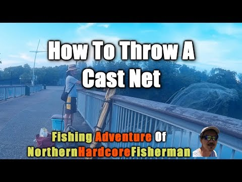 Singapore Fishing Trip Woodlands Waterfront Jetty Part 2 : How To Throw A Cast Net | FishingAdvNH