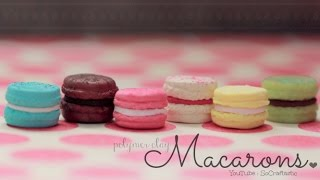 French Macarons - Polymer Clay Charm - How To - Socraftastic