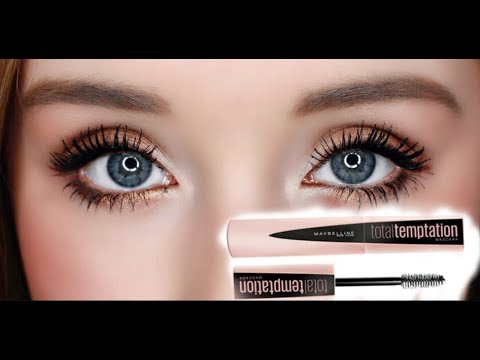 6ac86178b31 MAYBELLINE TOTAL TEMPTATION MASCARA   REVIEW & DEMO - YouTube
