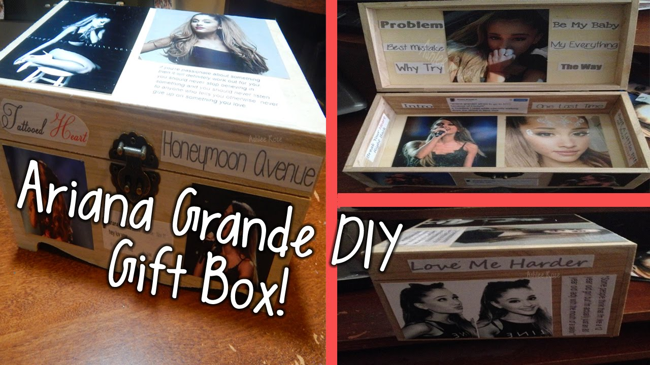 Diy Ariana Grande Gift Box Holidiy Christmas Gift Youtube