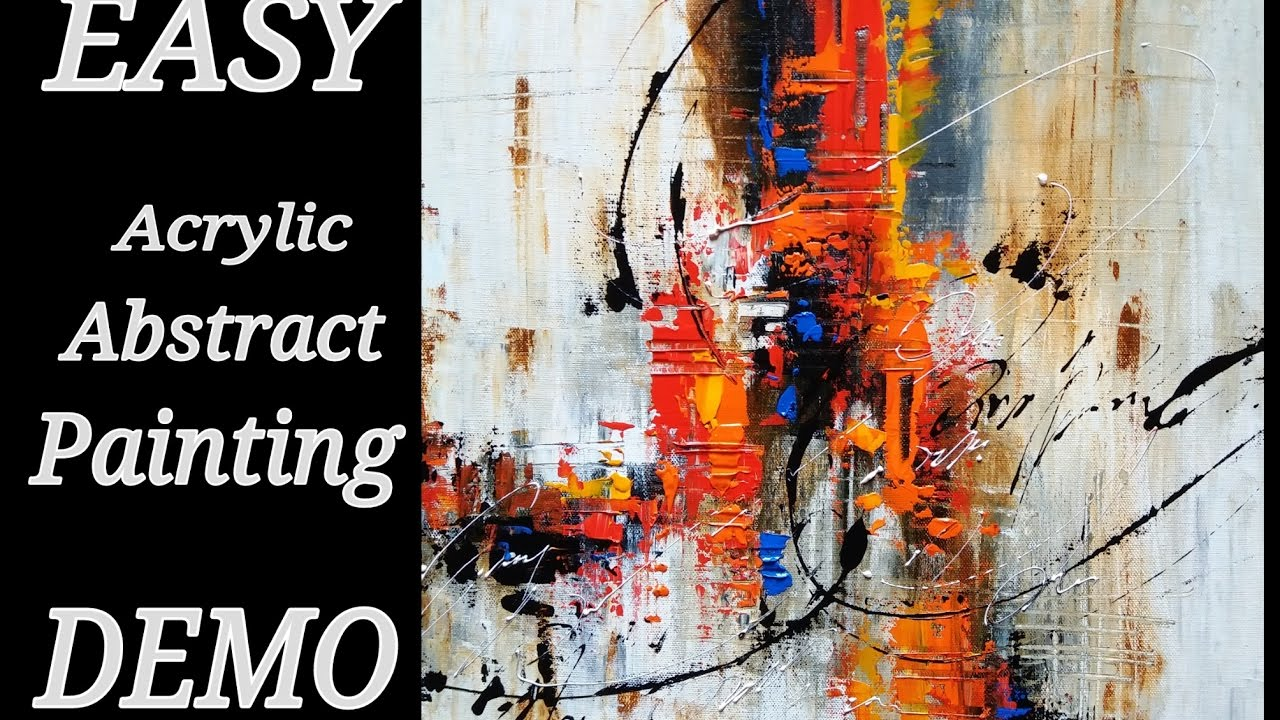 Abstract Painting Easy Abstract Painting In Acrylics