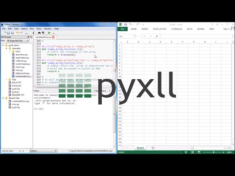 PyXLL Introduction - YouTube