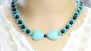 Easy Jewelry Tutorial: Make Turquoise Bead Pendant Necklace