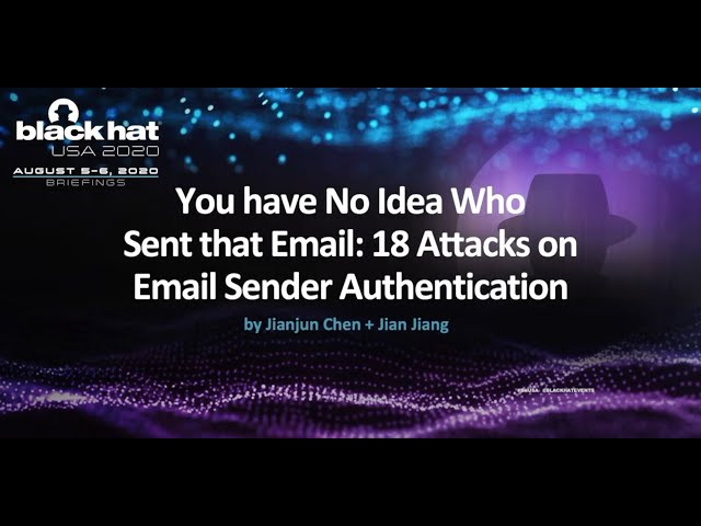 You have No Idea Who Sent that Email: 18 Attacks on Email Sender Authentication