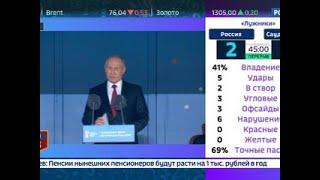 Смотреть видео Вести. Экономика. Путин о футболе в России: это любовь с первого взгляда - Вести 24 онлайн