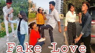 Fake Love Tiktok   Fake Love   Sad Tiktok   breakup Tiktok   Ayantika   Rohit   gima ashi