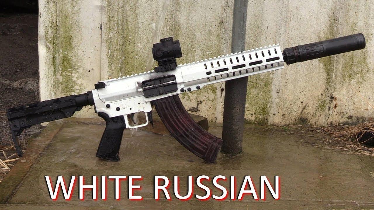 White Russian 7 62x39 Ak Hybrid Sbr Cmmg Mk47 Snow Rifle Youtube