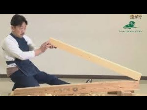 Amazing Primitive Technology Japanese Woodworking Fastest Work   Easy Techniques Wooden Tenon Joint