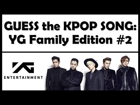 Guess the Kpop Song: YG Family Edition #2