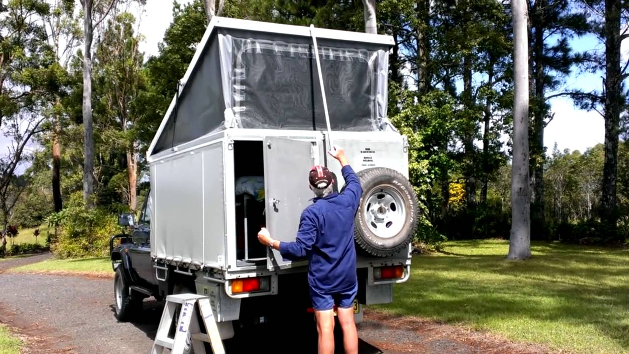 & POP TOP UTE CAMPER CANOPY FRAME - YouTube