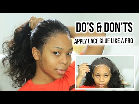 DO'S & DONT'S : HOW TO:  Apply Lace Glue For Beginners PROPERLY | MY FIRST WIG
