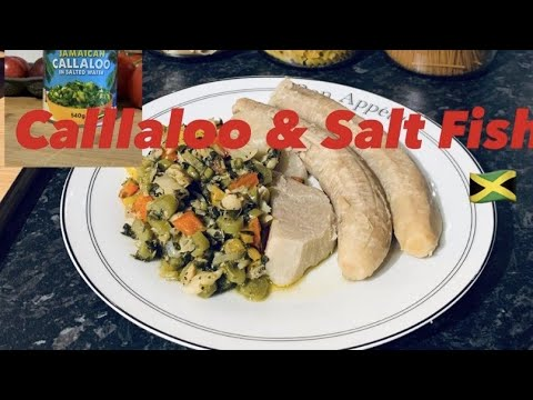 How To Cook Jamaican 🇯🇲Callaloo And Salt Fish😋