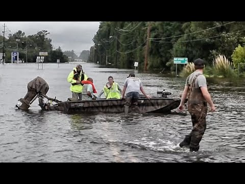 Floodwaters continue to rise in Lumberton