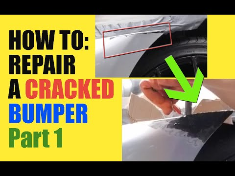 HOW TO: CRACKED BUMPER REPAIR DIY | PLASTIC WELDING | Fixing my Damaged Infiniti G37 Bumper | PART 1