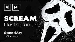 Adobe Illustrator SpeedArt   Scream Illustration & Giveaway