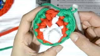 Елка конус - подарочная упаковка из трикотажной пряжи