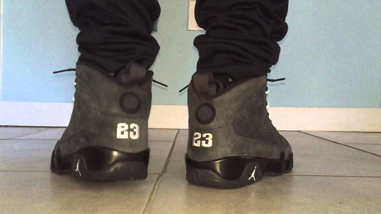 Air Jordan 9 Anthracite 2015 (On Feet