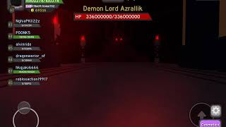 Roblox dungeon quest the underworld BOSS Demon Lord Azrallik