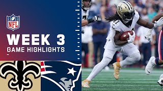 Saints vs. Patriots Week 3 Highlights   NFL 2021